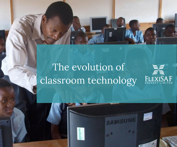 The Evolution of Classroom Technology (infographic)
