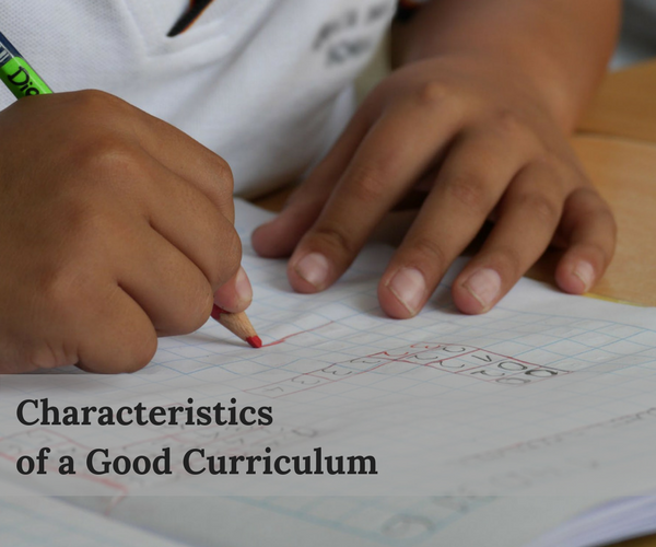 What Makes a High Quality Curriculum?